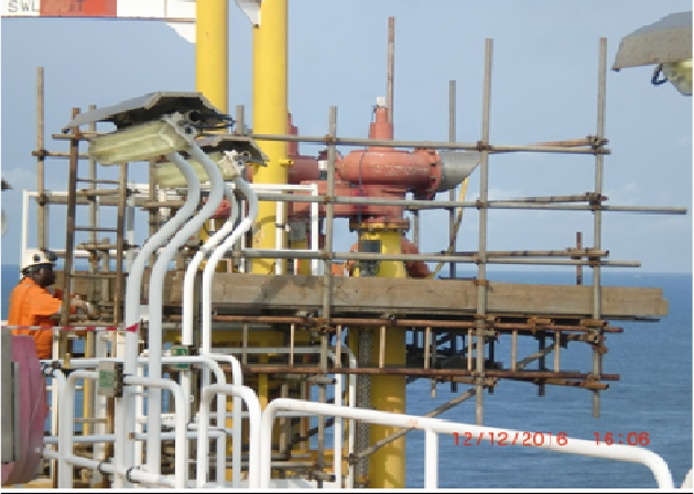 Erection of Scafold for replacement of 5-PVSVS at S2 UD